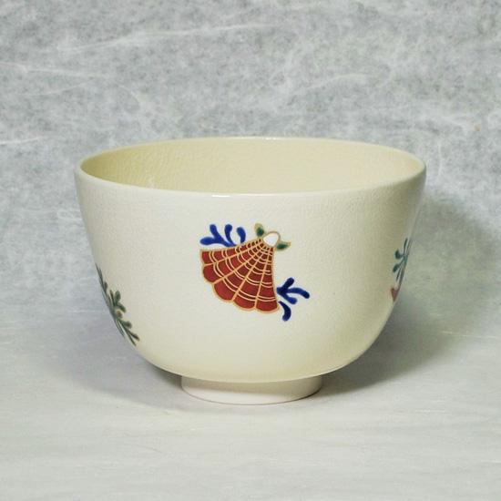 抹茶碗あまびえの左後ろの貝殻の絵の画像
