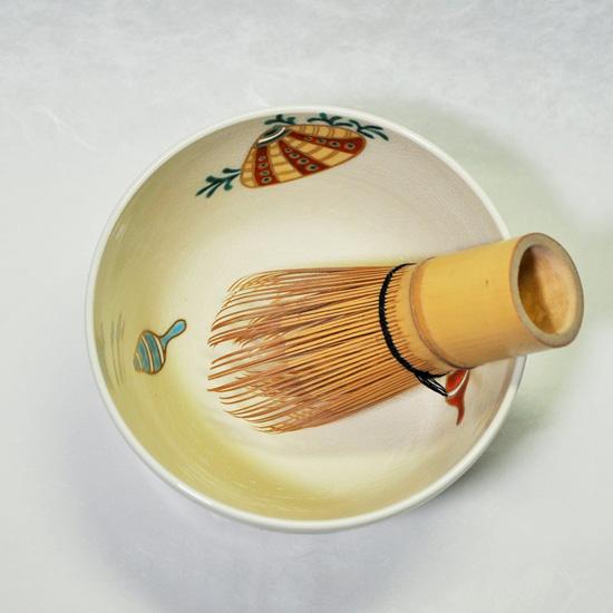 抹茶碗あまびえと茶せんの画像