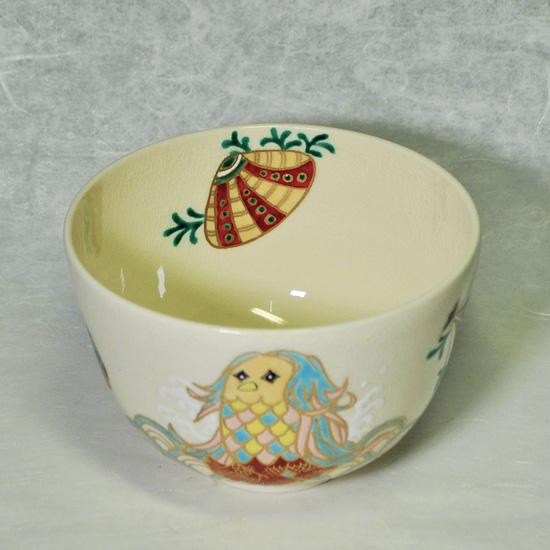 抹茶碗あまびえの内側の絵の画像