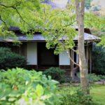 大河内山荘庭園の茶室「滴水庵」の画像